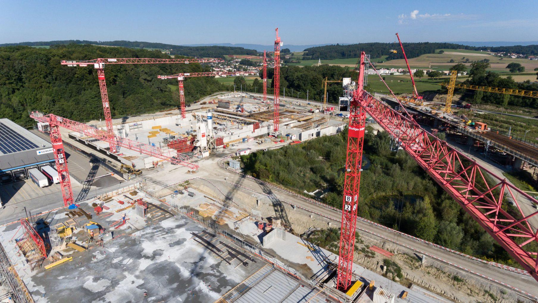 Vogelperspektive der Baustelle TPF-G7