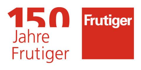 Logo 150 Jahre Frutiger deutsch